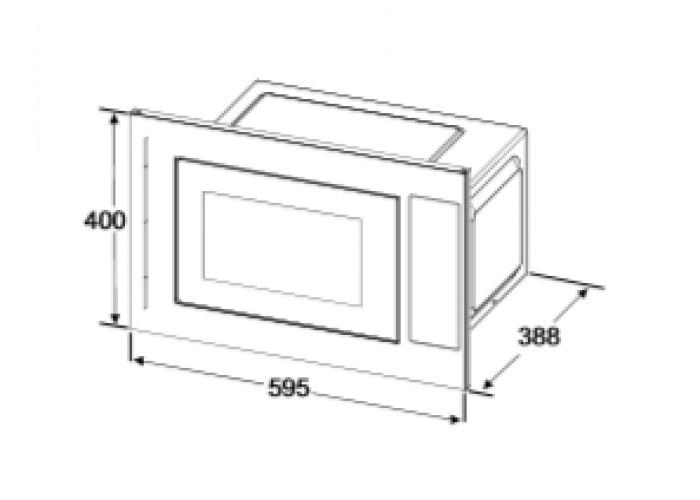Built-in microwave oven INTERLINE MWG 725 ESA BA